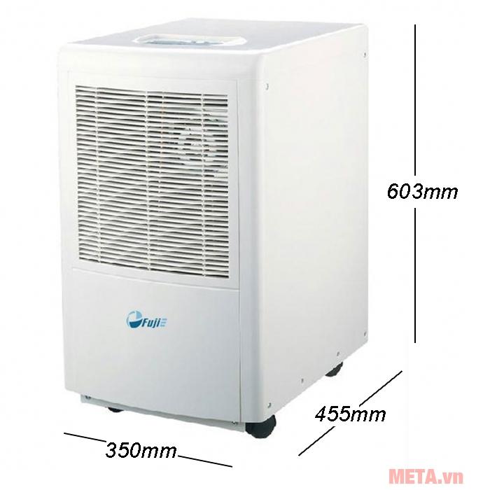 Kích thước máy hút ẩm FujiE HM-630EB