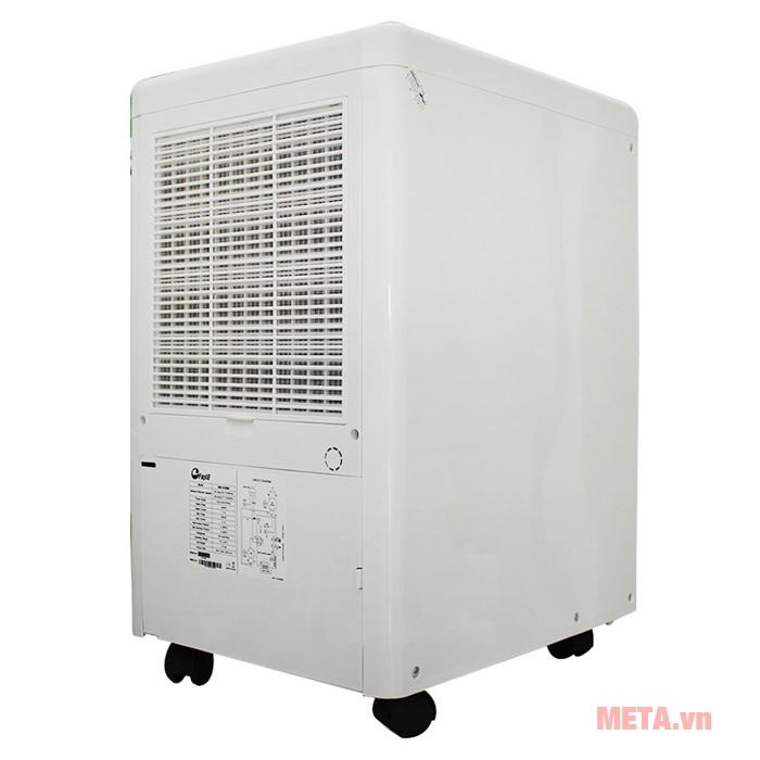 Máy hút ẩm dân dụng FujiE HM-650EB có bánh xe di chuyển dễ dàng
