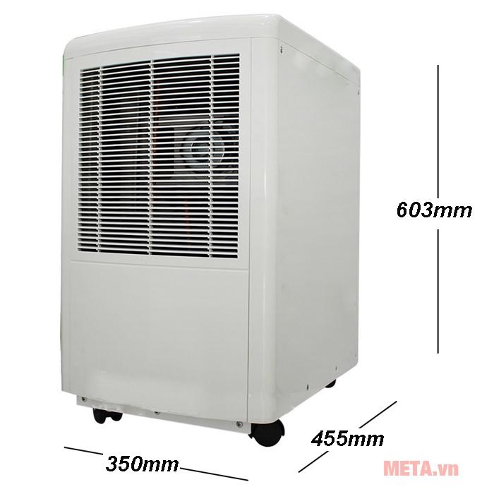 Kích thước máy hút ẩm FujiE HM-650EB
