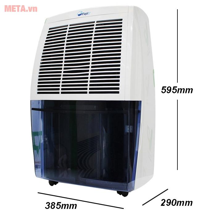 Kích thước máy hút ẩm dân dụng FujiE HM-620EB