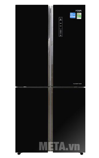 Hình ảnh tủ lạnh tủ lạnh Aqua AQR-IG525AM-GG màu đen