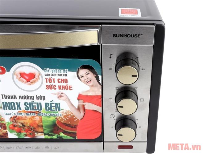 Lò nướng Sunhouse SHD4232 tích hợp nhiều chức năng nấu nướng cài đặt sẵn