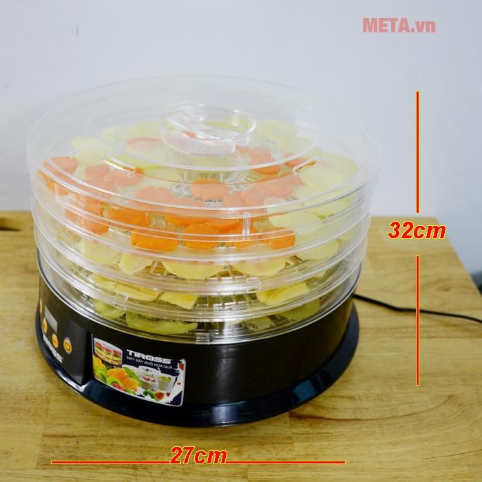 Kích thước máy sấy hoa quả Tiross TS9682