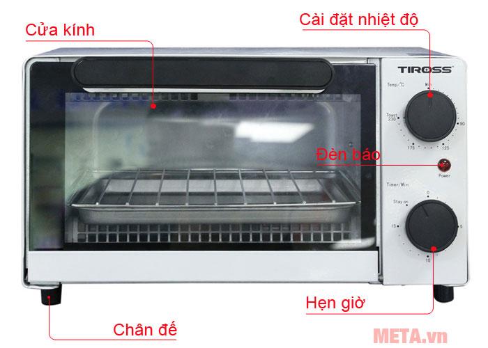 Cấu tạo lò nướng Tiross TS9601