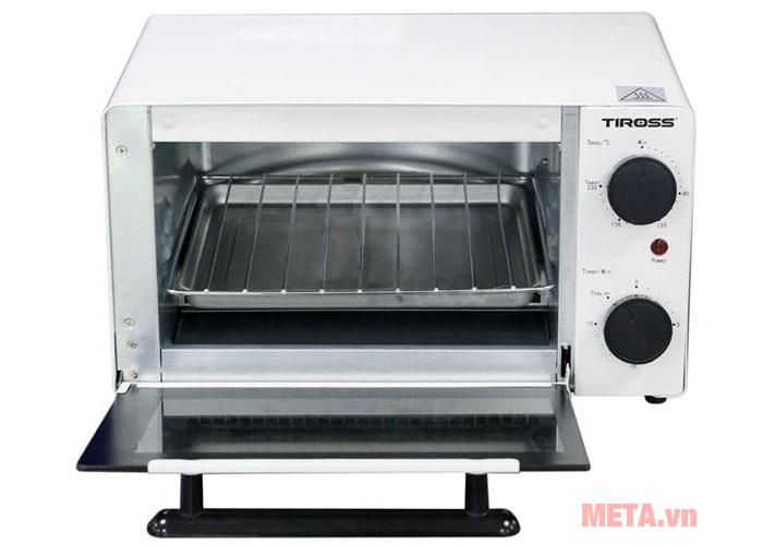 Thiết kế lò nướng Tiross TS9601 đơn giản, tinh tế