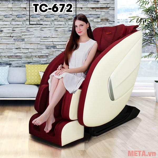Ghế Massage Toàn Thân Tokuyo TC-672 màu đỏ