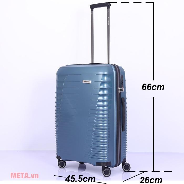Kích thước vali du lịch Sakos RAZOR Z26