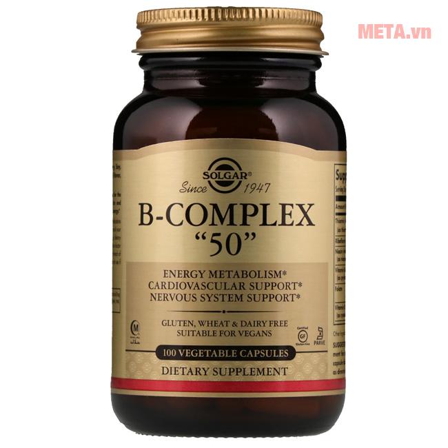 Thực phẩm bảo vệ sức khỏe B-complex 50 Solgar (50 viên)