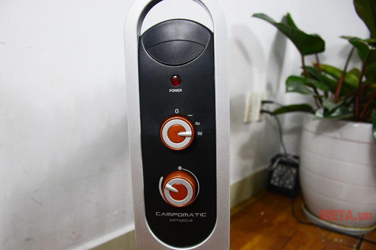 Nút điều khiển nhiệt độ và công suất của máy