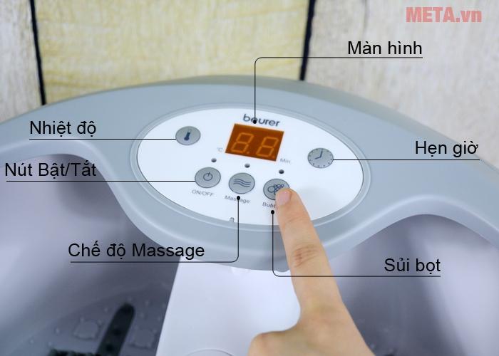 Bảng điều khiển bồn massage chân Beurer FB-50