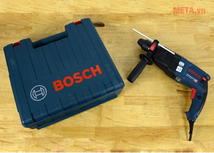 Máy khoan búa Bosch GBH 2-26 RE đi kèm hộp đựng chuyên dụng