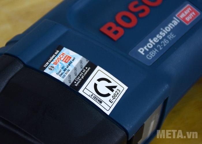 Máy khoan búa Bosch GBH 2-26 RE tại META.vn có tem chống giả
