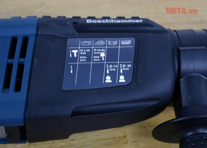 Máy khoan búa Bosch GBH 2-26 RE khoan được nhiều vật liệu