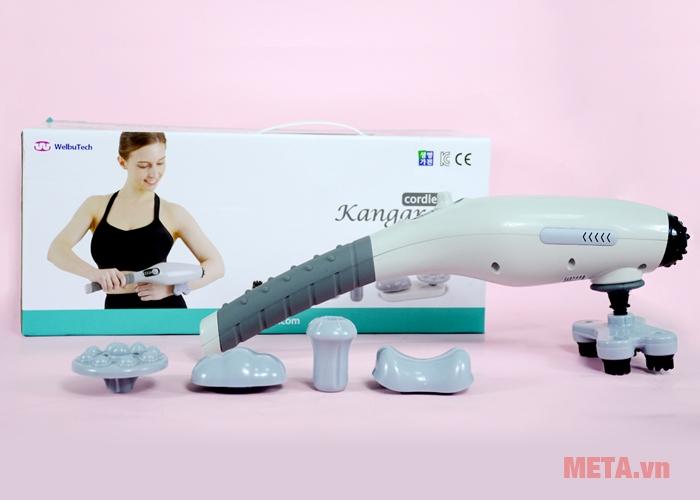 Trọn bộ máy massage cầm tay pin sạc Welbutech Kangaroo K-5000E