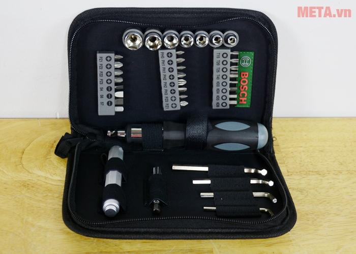 Bộ vặn vít đa năng Bosch 2607019506 có 38 chi tiết