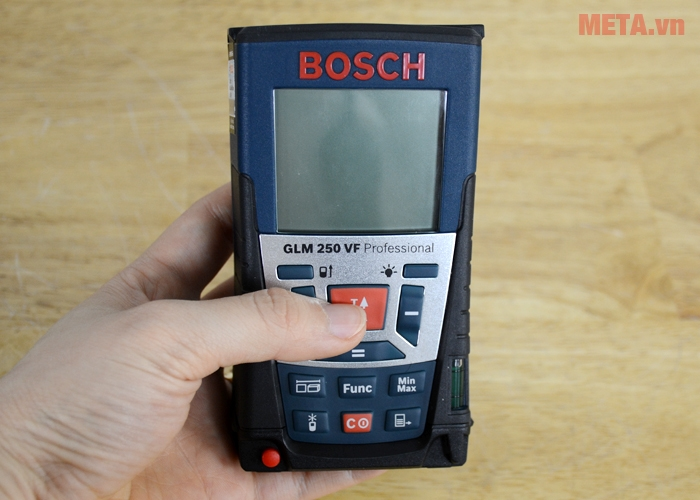 Máy đo khoảng cách laser Bosch GLM 250 VF tích hợp nhiều chức năng đo