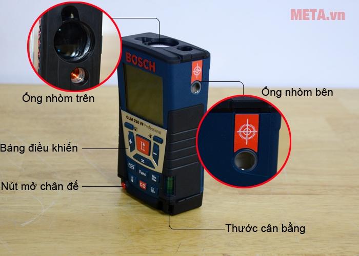 Cấu tạo máy đo khoảng cách laser Bosch GLM 250 VF