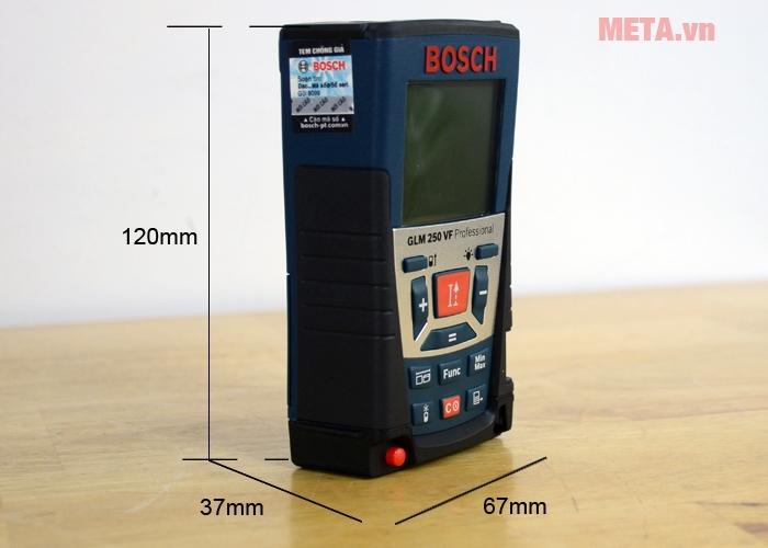 Kích thước máy đo khoảng cách laser Bosch GLM 250 VF