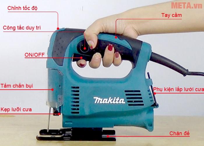 Cấu tạo máy cưa lọng Makita 4327.