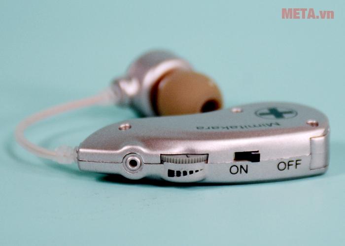 Các nút chức năng của máy trợ thính không dây Mimitakara UP-6B51