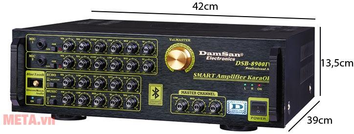 Kích thước máy tăng âm