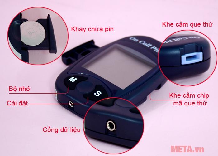 Cấu tạo máy đo đường huyết bằng máy On Call Plus