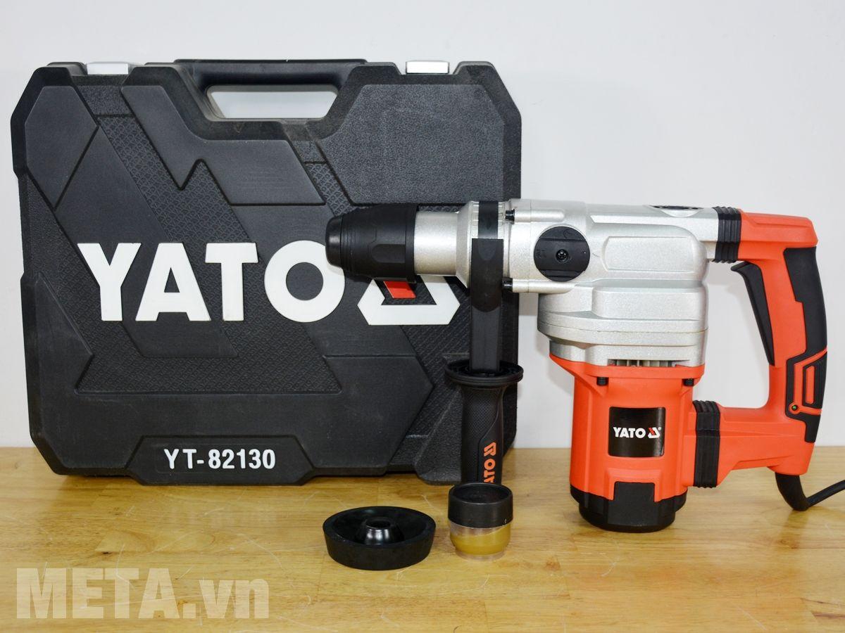 Trọn bộ sản phẩm máy khoan búa đảo chiều - 3 chức năng SDS Max Yato YT-82130 1050W