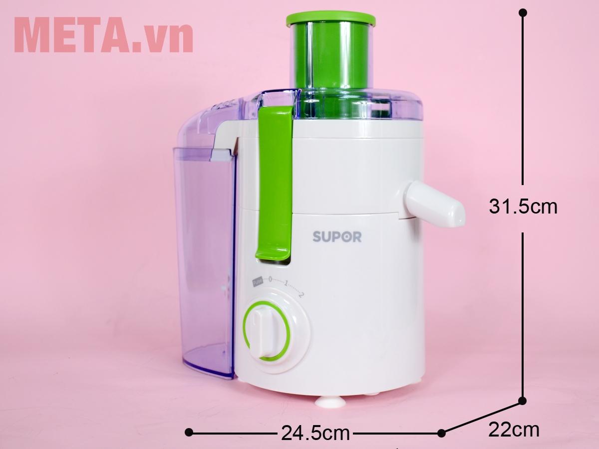 Kích thước áy ép trái cây Supor ZS10VN-230