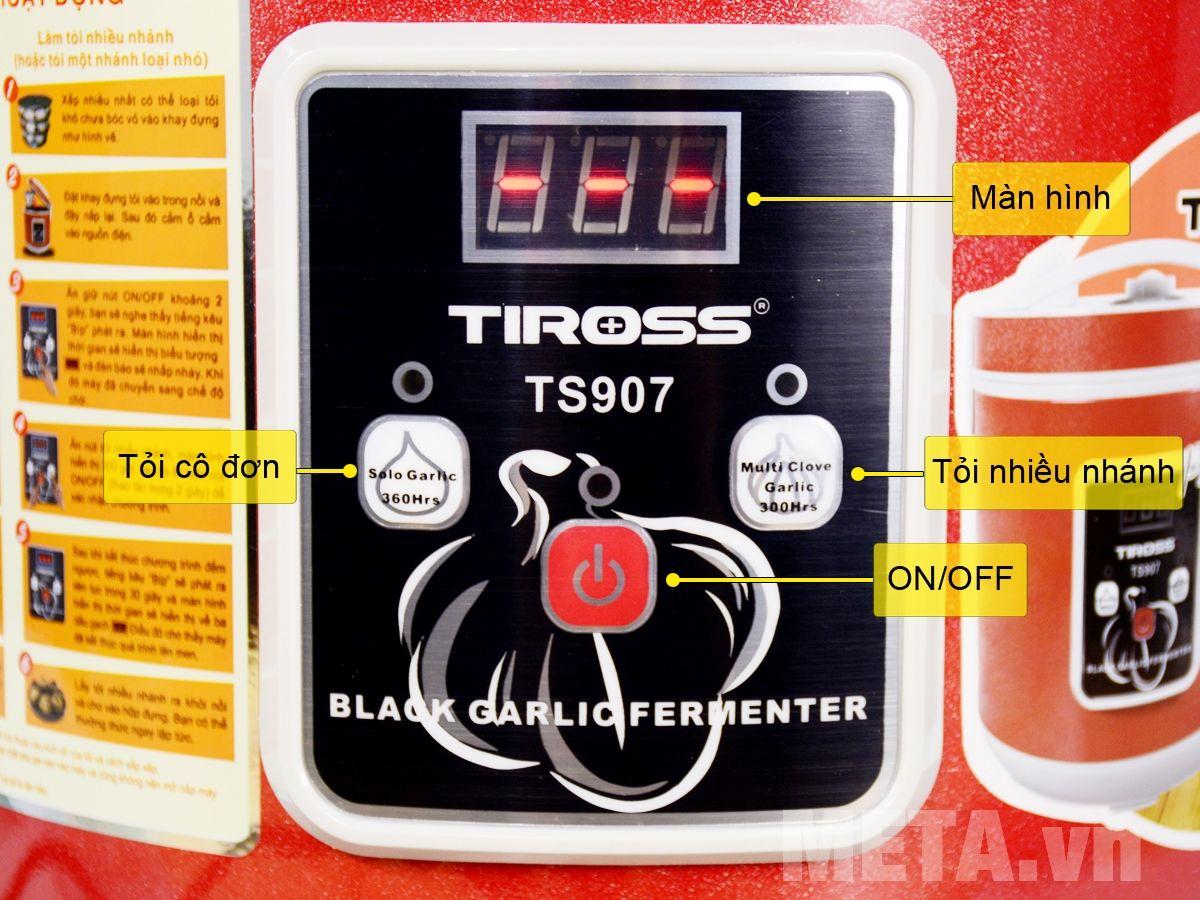 Bảng điều khiển máy làm tỏi đen TS907