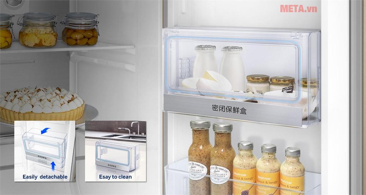 Có ngăn bảo quản riêng, giúp thực phẩm giữ nguyên hương vị