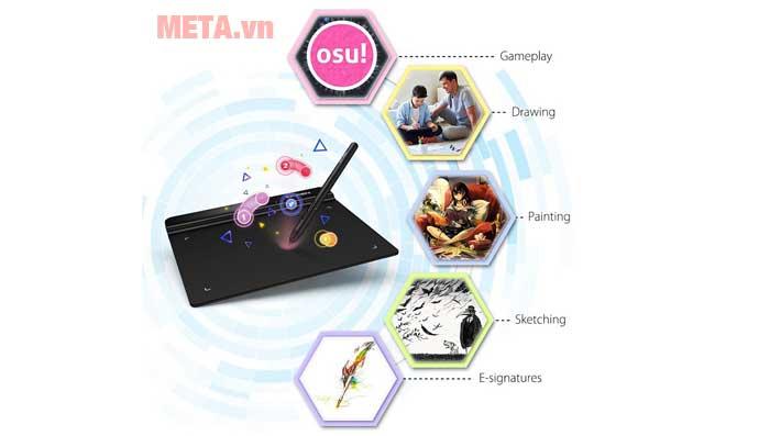 Bảng vẽ XP-Pen Star G640 phục vụ nhiều mục đích sử dụng khác nhau