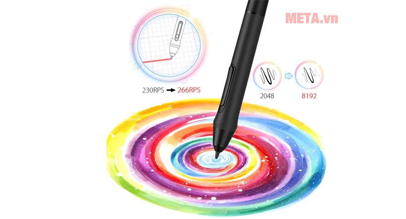 Lực nhấn bút 8192 của XP-Pen Artist 13.3 giúp bạn có thể tỉ mỉ ở từng chi tiết