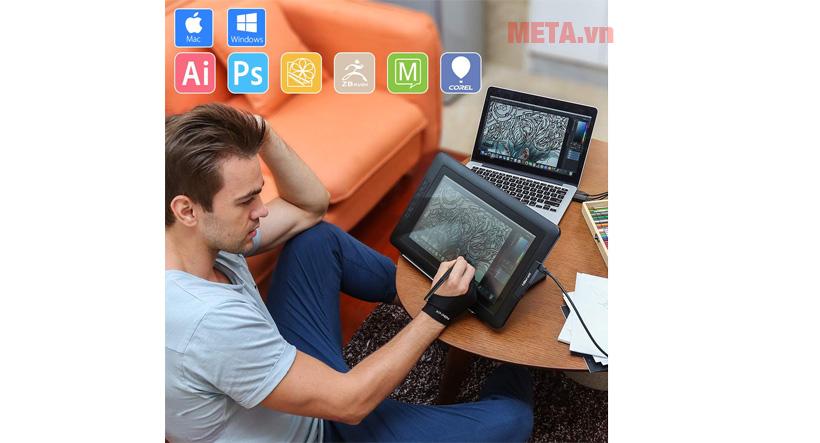 XP-Pen Artist 13.3 tương thích với nhiều hệ điều hành khác nhau