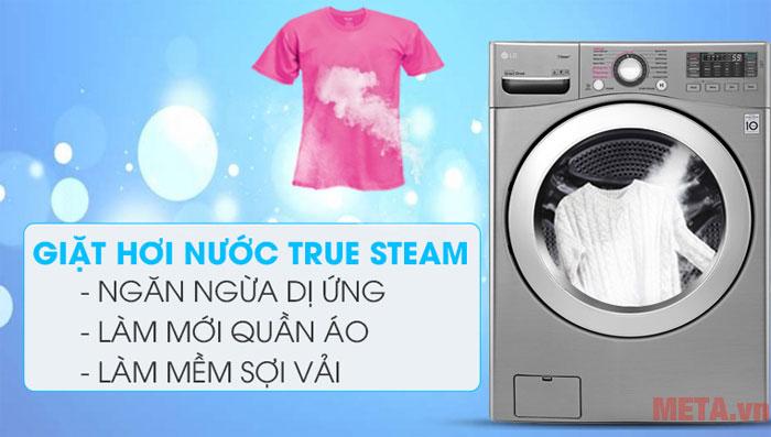 Giặt hơi nước giúp quần áo sạch vết bẩn, sạch vi khuẩn