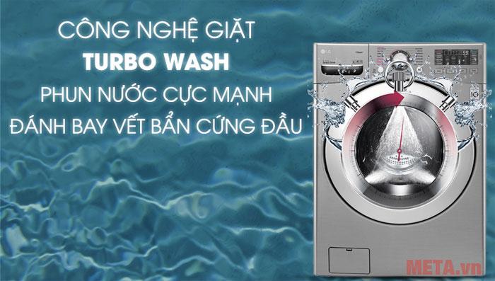 Công nghệ Turbo Wash đánh bay các vết bẩn cứng đầu