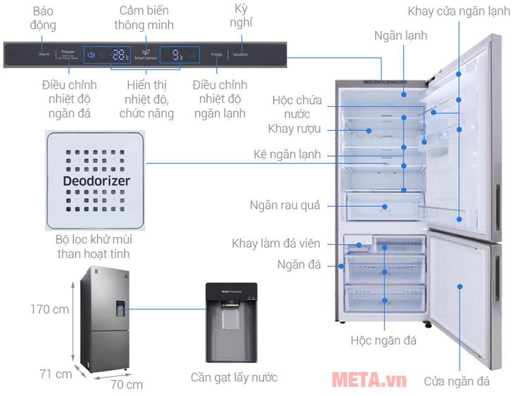 Cấu tạo Tủ lạnh Samsung