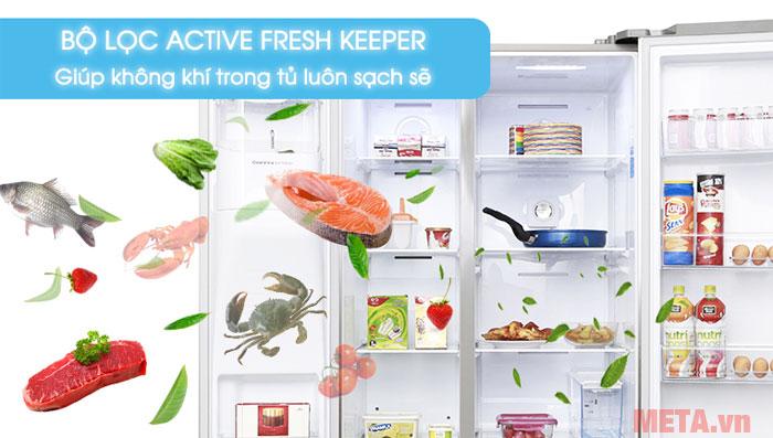 Bộ lọc mùi giúp tủ không bị dính mùi vào thức ăn