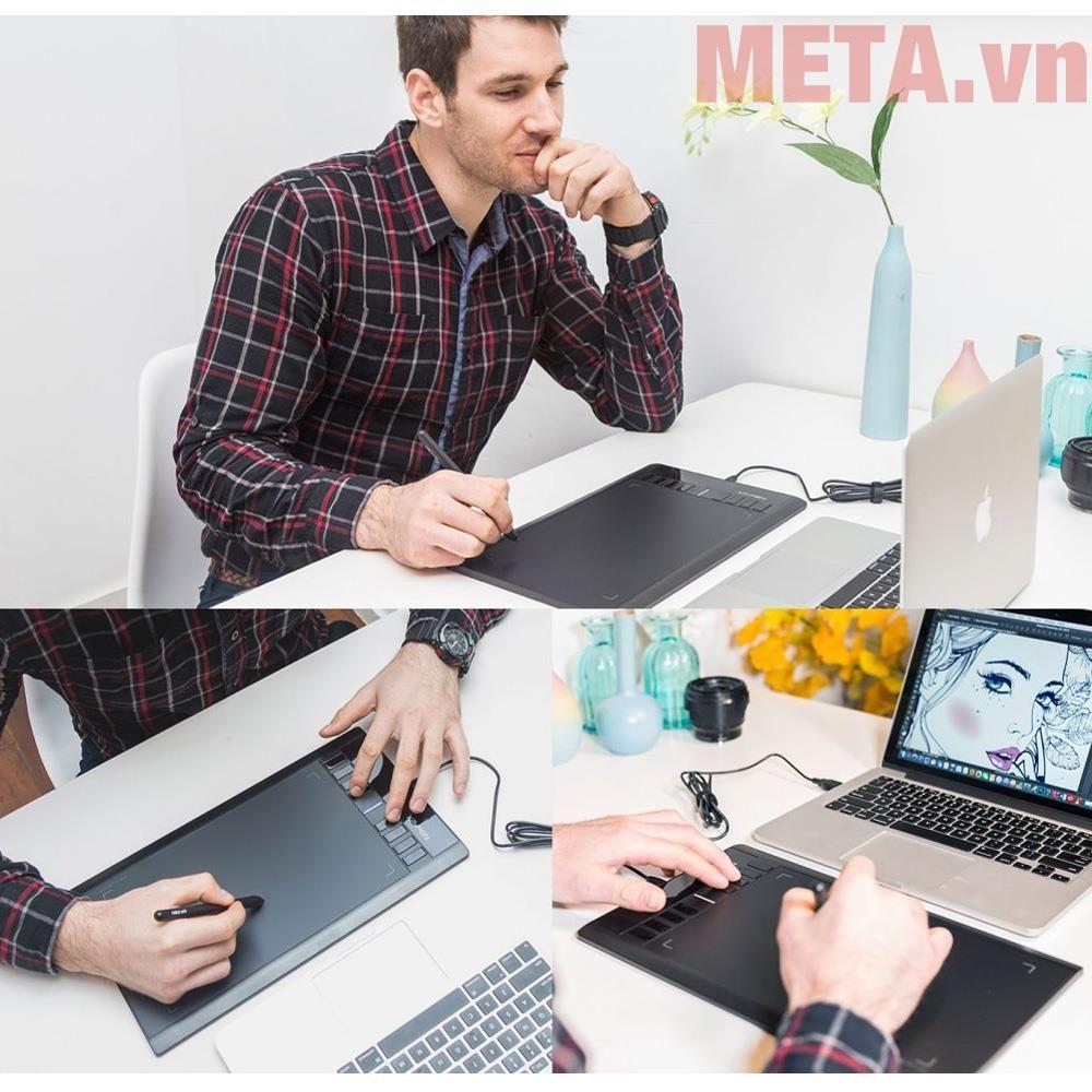 Bảng vẽ điện tử XP-Pen Star 03 có màn hình lớn, thiết kế mỏng dễ sử dụng
