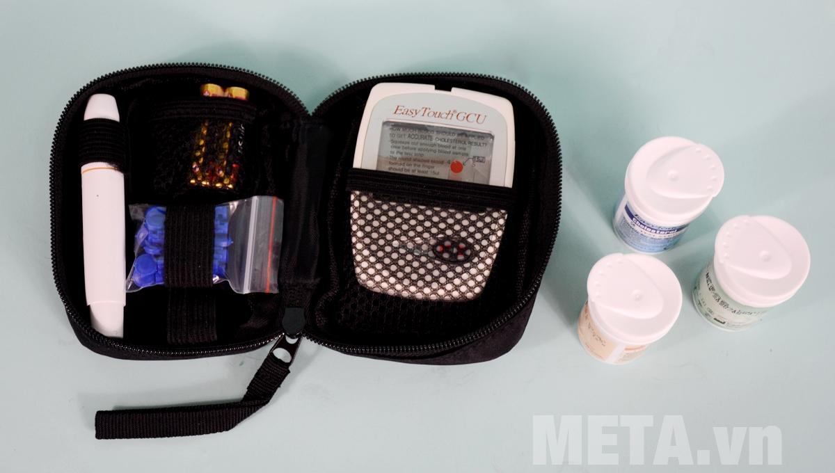 Phụ kiện đi kèm máy đo đường huyết Rossmax Easy Touch GCU ET322