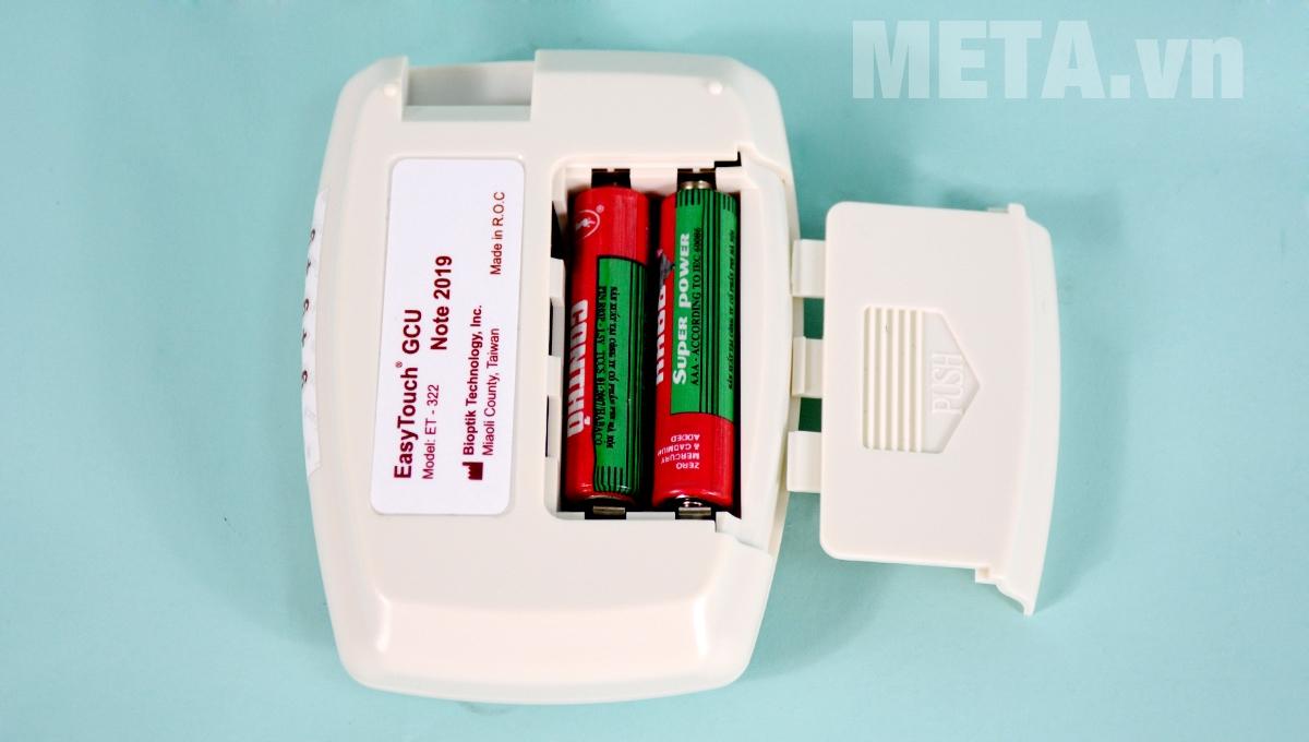 Khay chứa pin máy đo đường huyết Rossmax Easy Touch GCU ET322