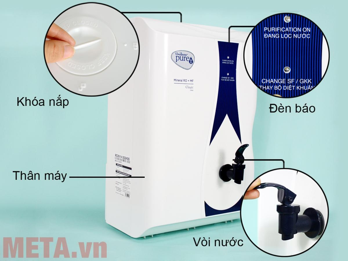 Cấu tạo máy lọc nước Unilever Pureit Classic Mineral RO + MF (Pureit Casa)