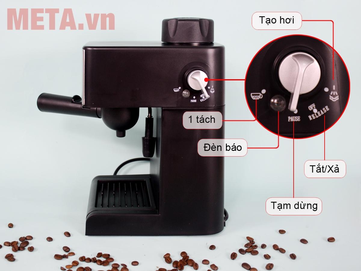 Các chức năng pha trên máy pha cà phê Espresso Tiross TS621
