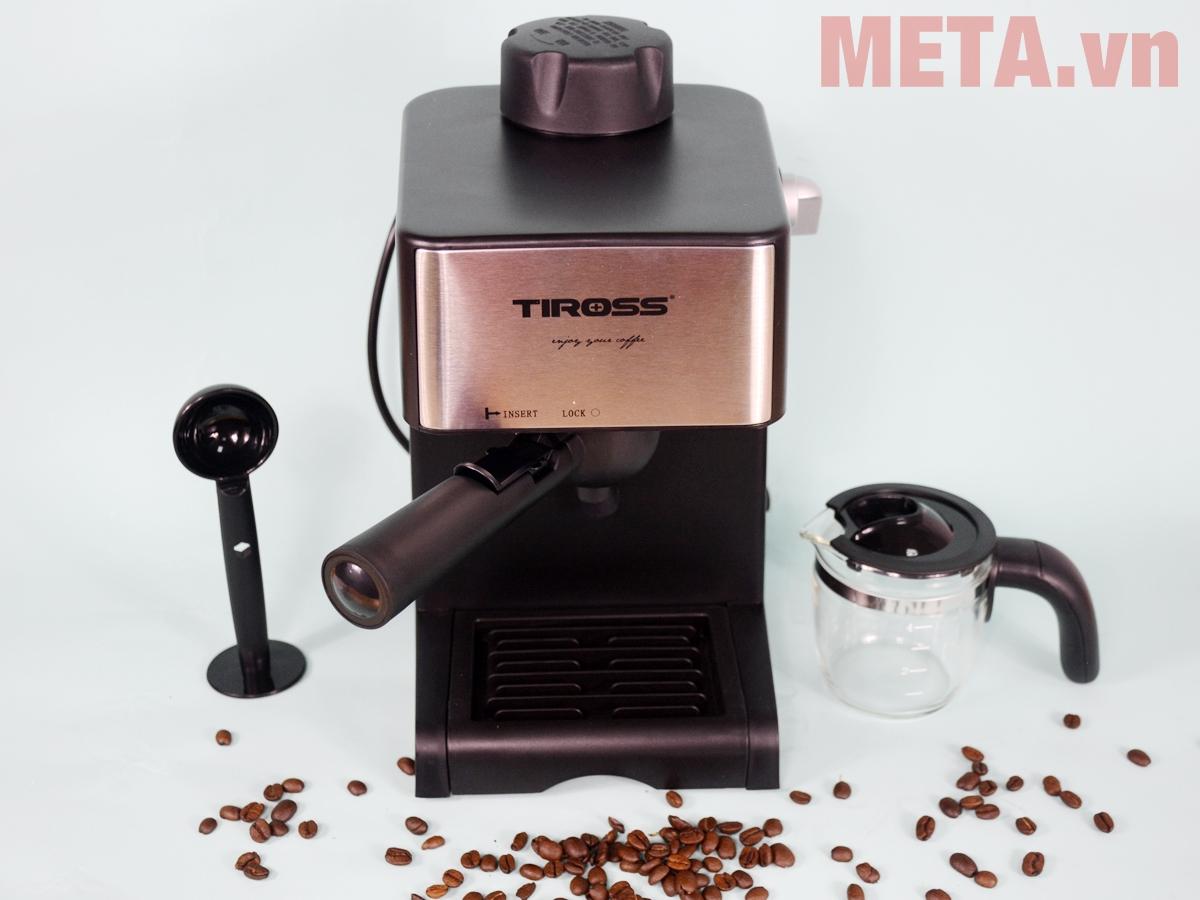 Máy pha cà phê Espresso Tiross TS621 có thiết kế sang trọng