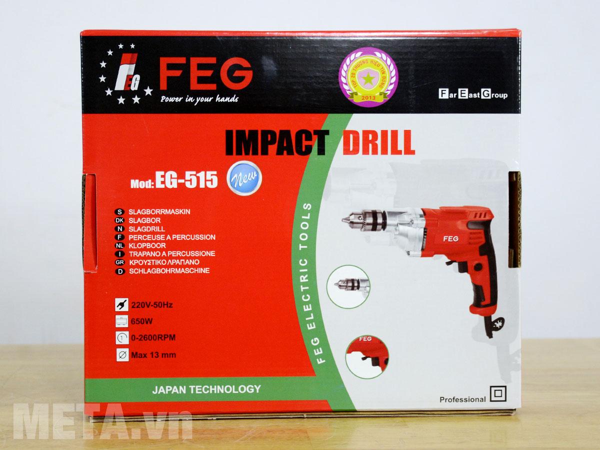Bao bì sản phẩm máy khoan FEG EG-515