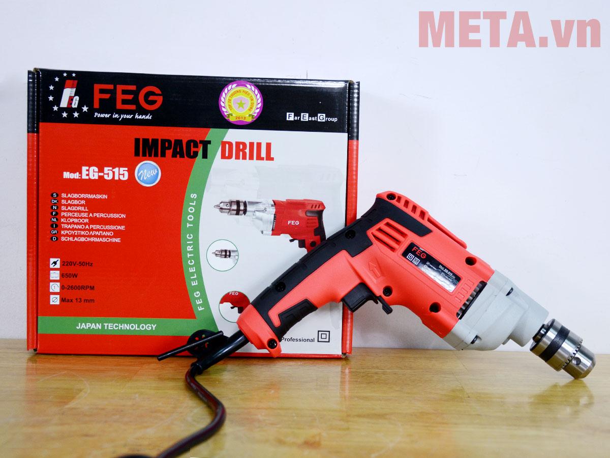 Máy khoan FEG EG-515 sở hữu công suất 650W