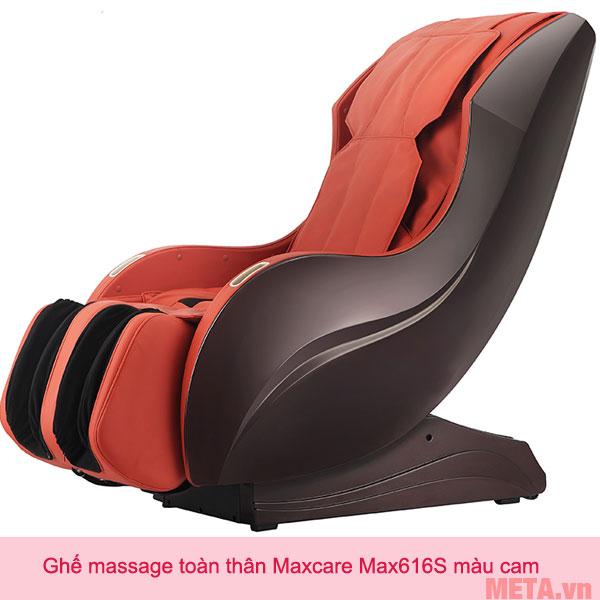Ghế massage toàn thân Maxcare Max616S màu cam