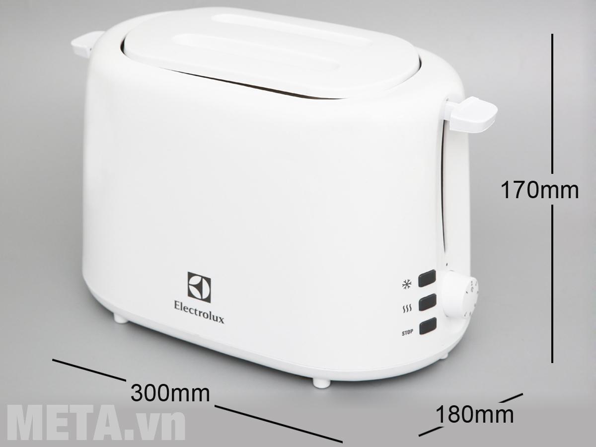 Kích thước máy nướng bánh mì Electrolux ETS1303W