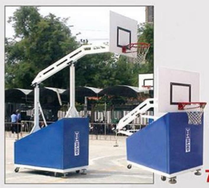 Trụ bóng rổ thi đấu 801870 dễ dàng xếp gọn, tiết kiệm không gian.