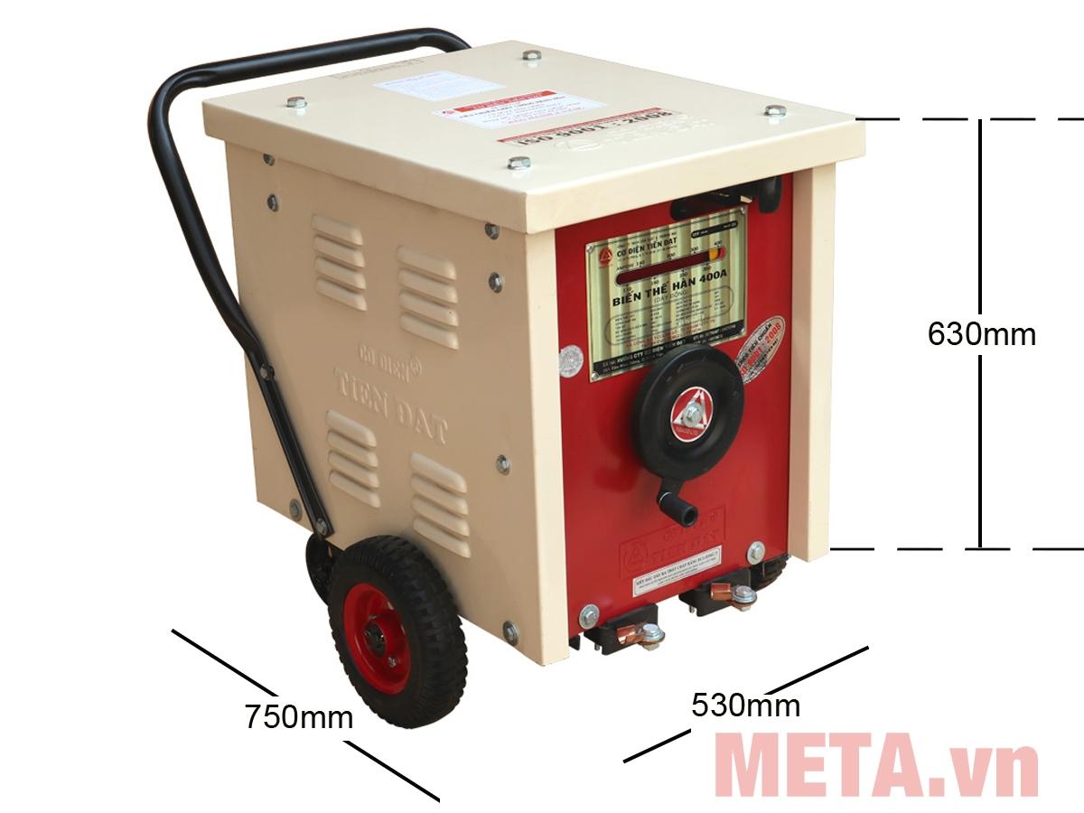 Kích thước máy hàn Tiến Đạt 400A - dây đồng HĐ-400Đ