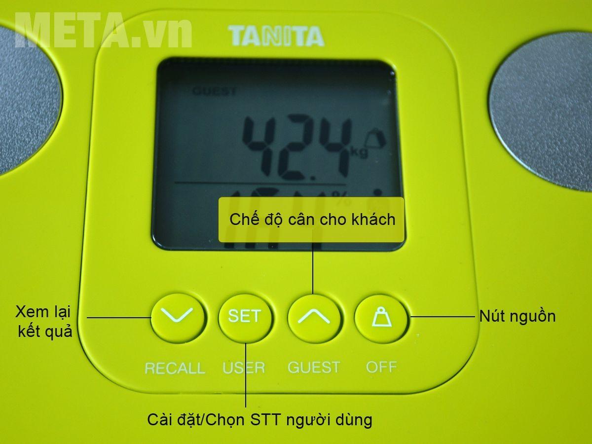 Bảng điều khiển cân sức khỏe và phân tích cơ thể Tanita BC-730